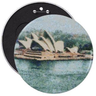 Teatro de la ópera magnífico de Sydney Pin Redondo 15 Cm