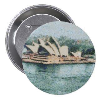 Teatro de la ópera magnífico de Sydney Pin Redondo 7 Cm