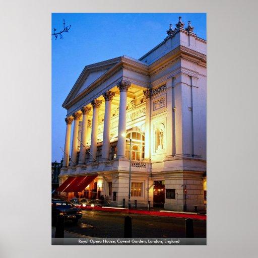 Teatro de la ópera real, jardín de Covent, Póster