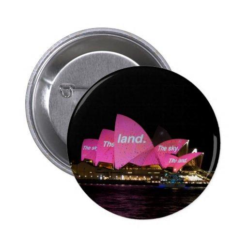 Teatro de la ópera vivo 01 de Sydney del festival Pin Redondo 5 Cm