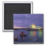 Teatro de la ópera y puerto de Sydney en el amanec Imán De Frigorífico