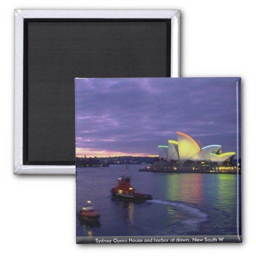 Teatro de la ópera y puerto de Sydney en el Imán Cuadrado