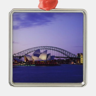 Teatro de la ópera y puerto, nuevo sur 2 de Sydney Adorno Cuadrado Plateado