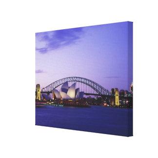 Teatro de la ópera y puerto nuevo sur 2 de Sydney Impresión En Lienzo Estirada