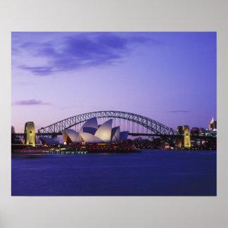 Teatro de la ópera y puerto, nuevo sur 2 de Sydney Póster
