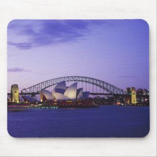 Teatro de la ópera y puerto, nuevo sur 2 de Sydney Alfombrillas De Ratones