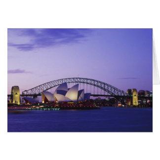 Teatro de la ópera y puerto, nuevo sur 2 de Sydney Tarjeta De Felicitación
