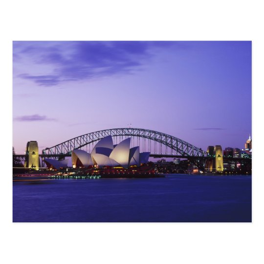Teatro de la ópera y puerto, nuevo sur 2 de Sydney Tarjeta Postal