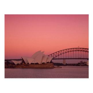 Teatro de la ópera y puerto, nuevo sur de Sydney Postales