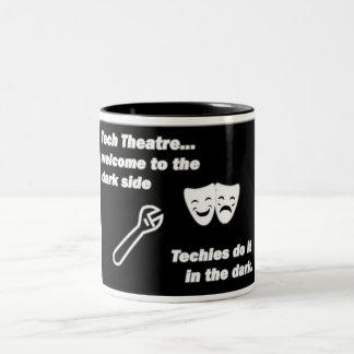 Teatro de la tecnología taza de dos tonos