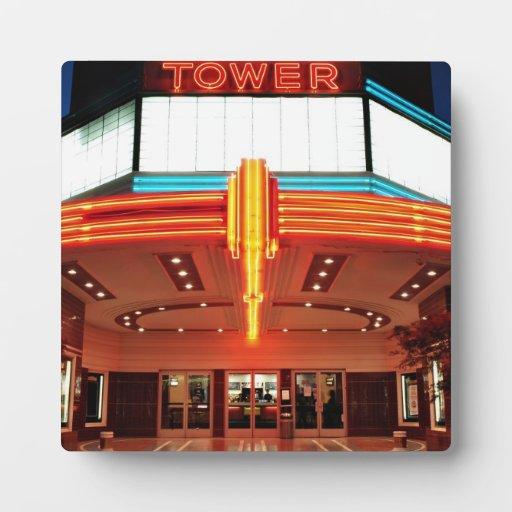 Teatro de la torre, Sacramento, California Placas De Plastico