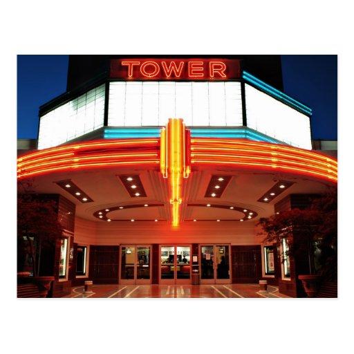 Teatro de la torre, Sacramento, California Postal