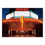 Teatro de la torre, Sacramento, California Tarjetón
