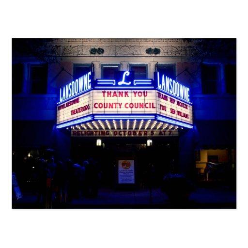 Teatro de Lansdowne Tarjetas Postales