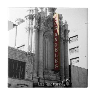 Teatro de Los Ángeles Azulejo Cuadrado Pequeño