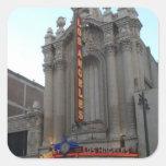 Teatro de Los Ángeles Calcomanías Cuadradas Personalizadas