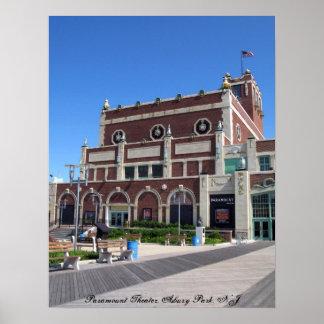 Teatro de Paramount del paseo marítimo del parque  Posters