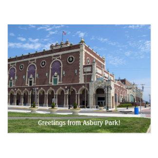 Teatro de Paramount en el parque de Asbury, NJ Postal