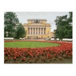 Teatro de Pushkin, flujo de St Petersburg, Rusia Postal