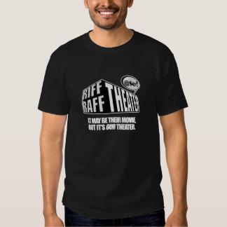 Teatro de Raff del riff - camiseta negra Playera