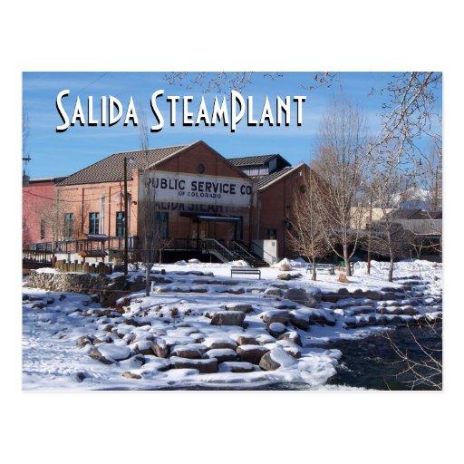 Teatro de SteamPlant y centro II del acontecimient Tarjeta Postal