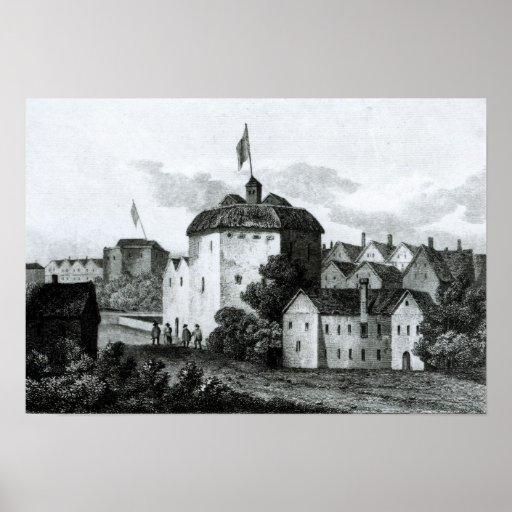 Teatro de The Globe en el Bankside Poster