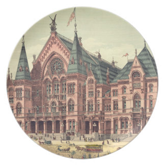 Teatro de variedades 1879 Cincinnati Platos De Comidas