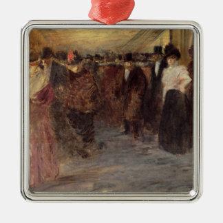 Teatro de variedades, c.1890 adorno cuadrado plateado