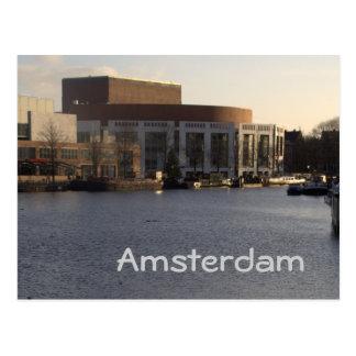 Teatro de variedades el río y Amsterdam de Amstel Tarjetas Postales
