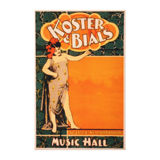 Teatro de variedades Koster y Bial cerca de Broadw Lienzo Envuelto Para Galerias