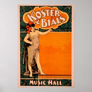 Teatro de variedades Koster y Bial cerca de Broadw Póster
