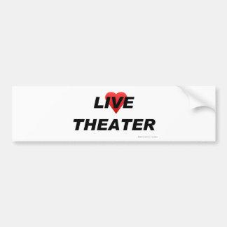 Teatro del amor etiqueta de parachoque