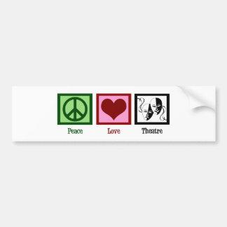 Teatro del amor de la paz etiqueta de parachoque