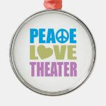Teatro del amor de la paz ornamento para arbol de navidad