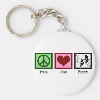 Teatro del amor de la paz llavero redondo tipo pin