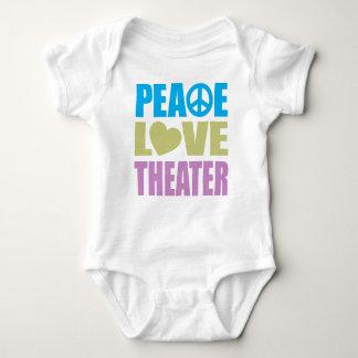 Teatro del amor de la paz t-shirt
