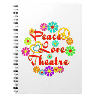 Teatro del AMOR de la PAZ Spiral Notebooks
