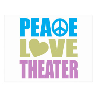 Teatro del amor de la paz tarjetas postales