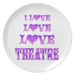 Teatro del amor del amor platos de comidas