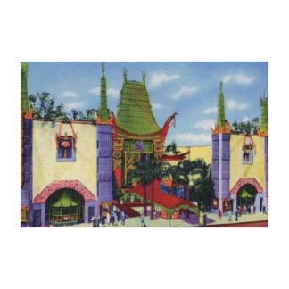 Teatro del chino de Los Ángeles California Grauman Impresión En Lona