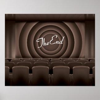 Teatro del cine de la película del vintage póster