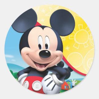 Teatro del club el   de Mickey Mouse Pegatina Redonda