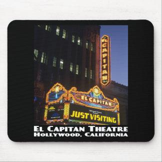 Teatro del EL Capitan, Hollywood Mousepad Tapetes De Ratón