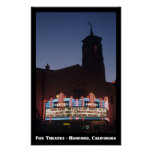 Teatro del Fox, poster de Hanford 11x17