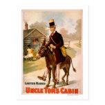 Teatro del hombre y del burro de la cabina de tío postal