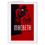 Teatro del negro de Macbeth WPA 1937 Tarjeta
