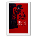 Teatro del negro de Macbeth WPA 1937 Tarjeta De Felicitación