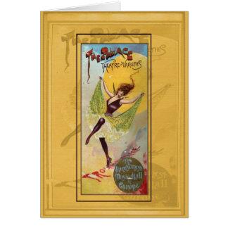Teatro del palacio de variedades tarjeta de felicitación