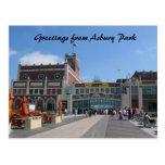 Teatro del parque NJ Paramount de Asbury, saludos  Tarjeta Postal