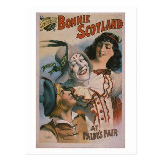 """Teatro del vintage de """"Bonnie Escocia"""" Tarjeta Postal"""